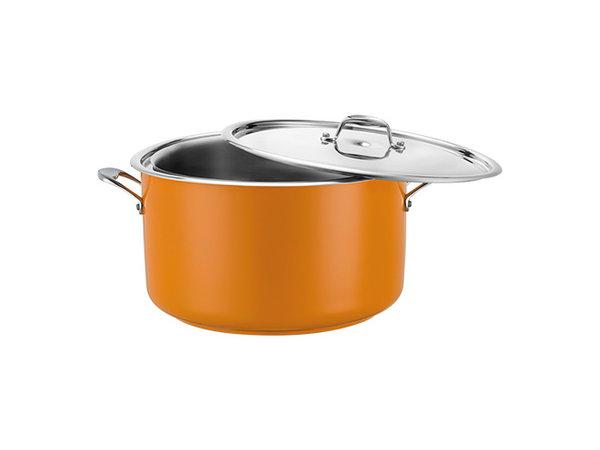 Pujadas Bain-Marie Pan | Geel Model | Met Deksel | Beschikbaar in 3 Maten