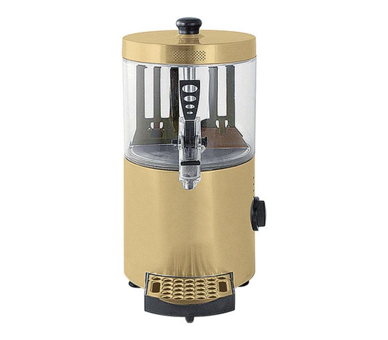 Caterchef Chocolademelk Dispenser Goud | voor Warme Chocomel | met Aftapkraan + Lekbakje | 3 Liter