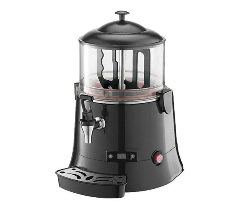 Caterchef Chocolademelk Dispenser Zwart   voor Warme Chocomel   met Aftapkraan + Lekbakje   5 Liter