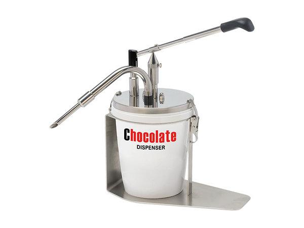 XXLselect Chocolade Hazelnootpasta Dispenser RVS   Geschikt voor 3 Liter   165x290x(H)370mm
