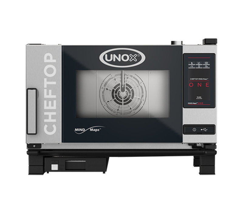 Unox ChefTop MindMaps ONE | XEVC-0311-E1L | Handgreep Links | 3x GN 1/1