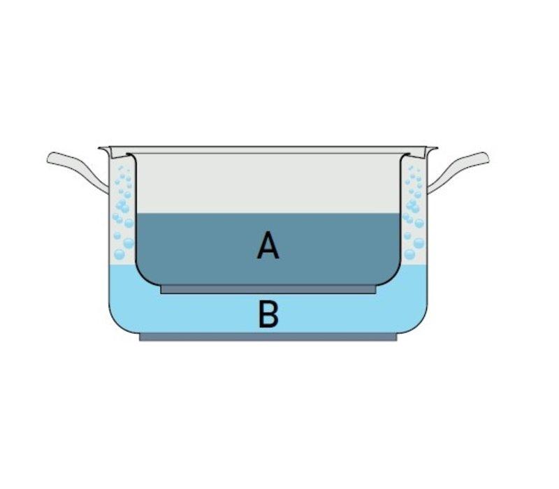 Pujadas Bain-Marie Pan Laag Model | RVS | Met Deksel | Ø320x(H)125mm