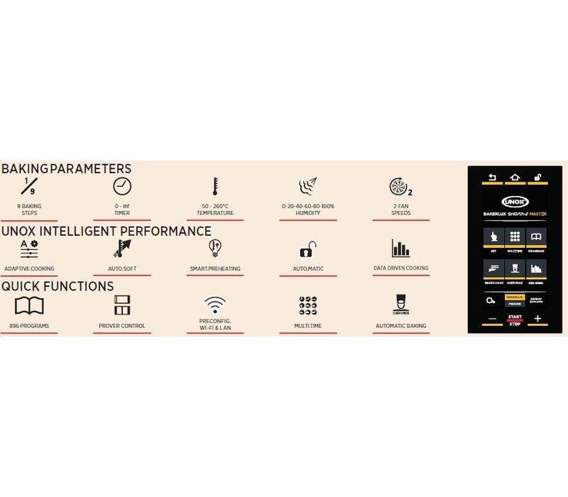 Unox BakerLuxShop Vittoria Master Bake-Off Oven | XEFT-06EU-EMRV | 6x 600x400mm