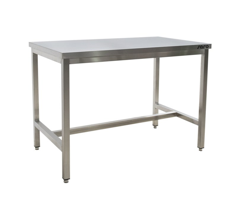 Saro Stainless Steel Work Table + Support Bar | 700mm Deep 850mm high | Welded model Available in 9 lengths