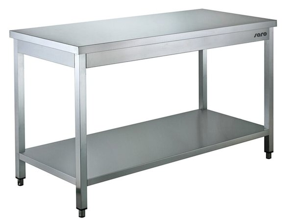 Saro Stainless Steel Work Table + Bottom Shelf | 700mm Deep 850mm high | Welded model Available in 9 lengths