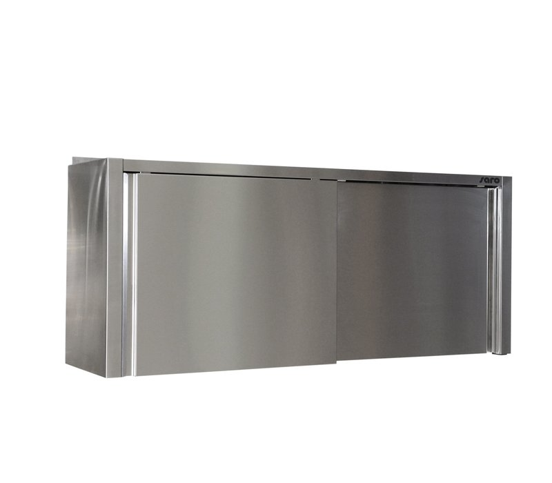 Saro Stainless Steel Wardrobe With Sliding Doors 400mm Deep | Welded Model Available in 6 lengths