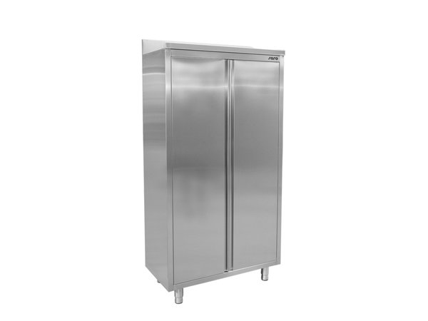 Saro Stainless Steel Storage Cabinet With Hinged Doors Welded Model 3 Shelves | 600x500x (H) 1975mm