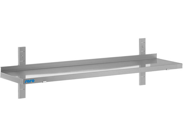 Saro Stainless steel wall shelf 400mm | Complete Set with 1 Shelf | Available in 4 lengths