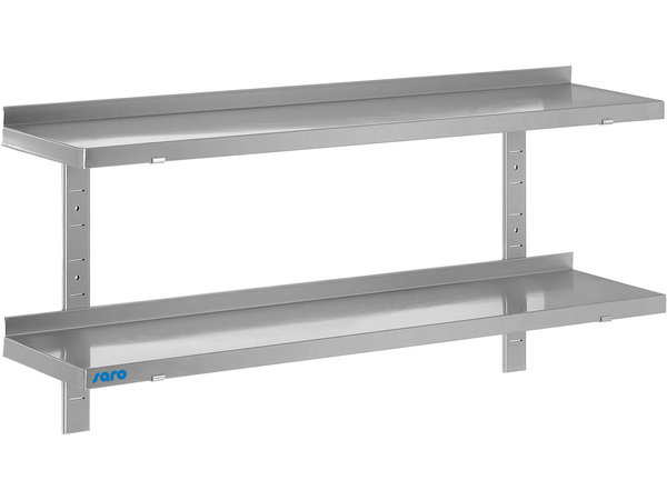 Saro Stainless steel wall shelf 400mm | Complete Set with 2 Shelves | Available in 5 Lengths