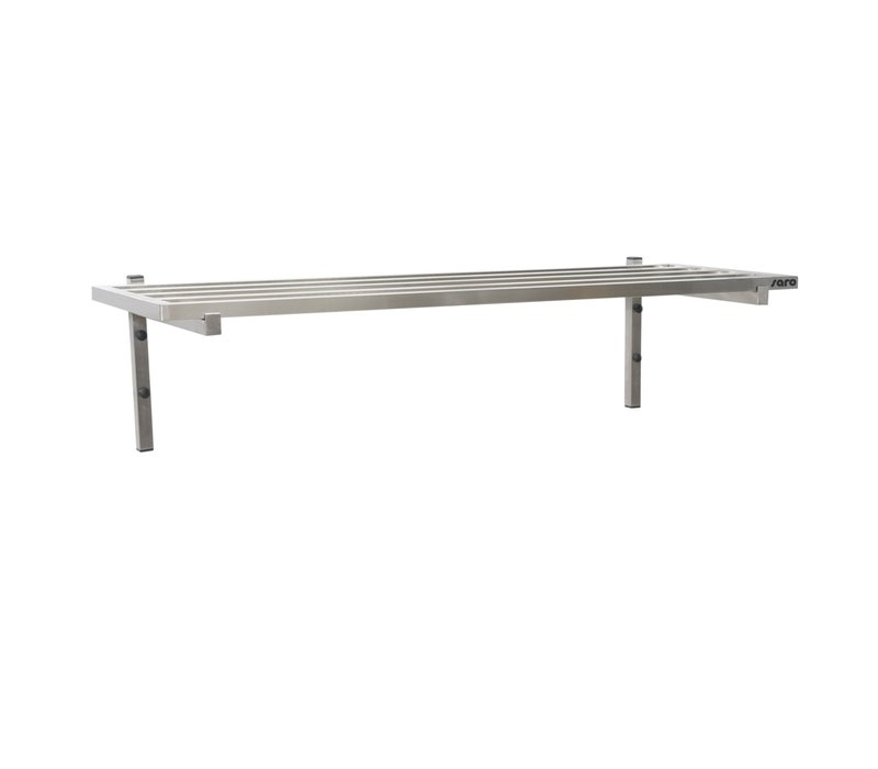 Saro Stainless Steel Wall Shelf 400mm With Bars | Complete set with 1 shelf | Available in 4 lengths