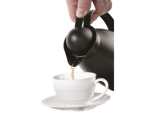 Hendi Polypropylene Insulating jug Black Inner glass bottle 1 liter | Ø140x (H) 268mm