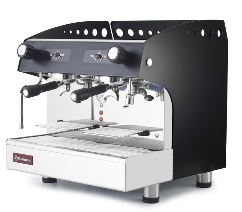 Diamond Espresso machine Black | 2 groups semi-automatic | 475x563x (H) 530mm