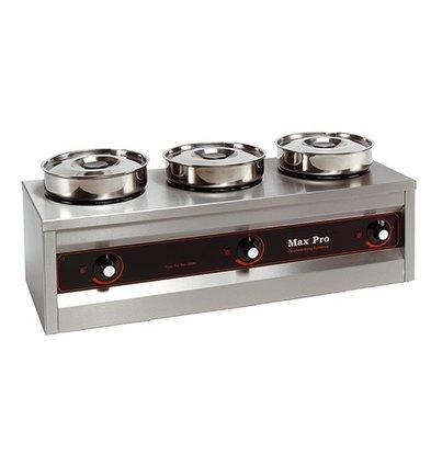 XXLselect Food Warmer | 3x4,5 Liter | 495W | 29x76x26cm (HxLxW)