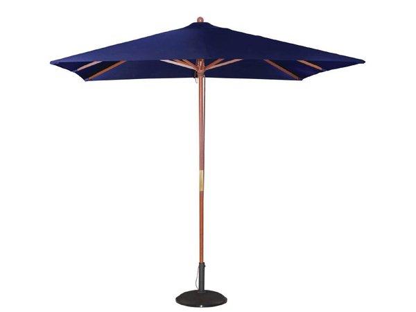Bolero Parasol Vierkant met Katrolmechanisme - Kleur Blauw - 2,5 meter Ø