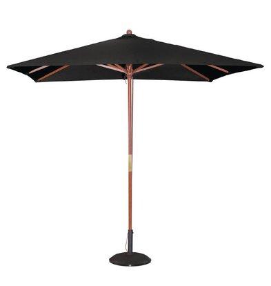 Bolero Parasol Vierkant met Katrolmechanisme - Kleur Zwart - 2,5 meter Ø
