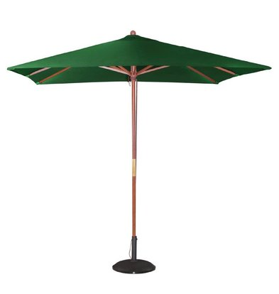 Bolero Parasol Square with Pulley Mechanism - Colour Green - 2.5 meter diameter