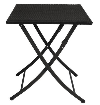 Bolero Folding Square Rattan Weatherproof Table - 71 (h) x60x60cm