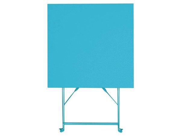 Bolero Opklapbare Stalen Vierkante Tafel Blauw - 71(H)x60x60cm