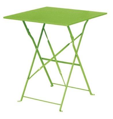 Bolero Opklapbare Stalen Vierkante Tafel Lime Groen - 71(H)x60x60cm