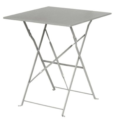 Bolero Hinged Steel Grey Square Table - 71 (H) x60x60cm