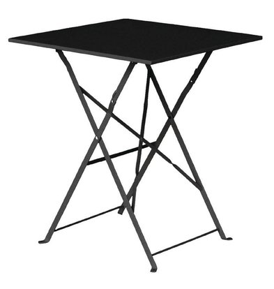 Bolero Folding Steel Square Table Black - 71 (H) x60x60cm