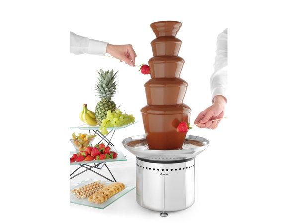 Hendi Chocolade Fontein 5 Lagen | RVS | 265W | Ø330x(H)700mm