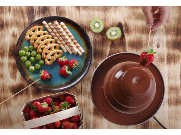 Hendi Chocolade Fontein 6 Lagen   RVS   300W   Ø370x(H)840mm