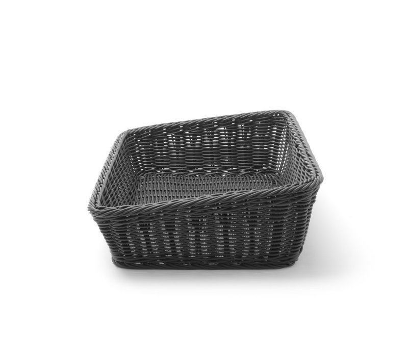Hendi Broodmand Rechthoekig Zwart | 400x300x(H)120mm