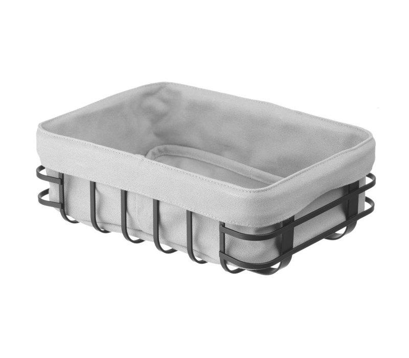 Hendi Broodmandje Met Wasbare Zak | Rechthoekig Model | 250x180x(H)85mm