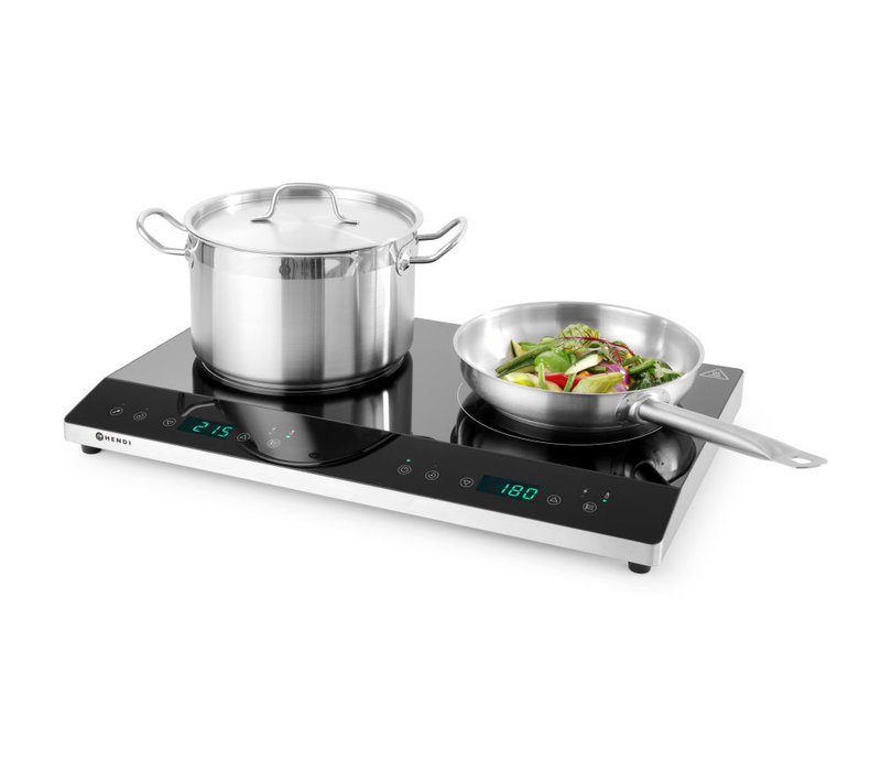 Hendi Double Induction Cooker With Boost | 3500W | For Ø120-Ø260mm | 608x370x (H) 56mm