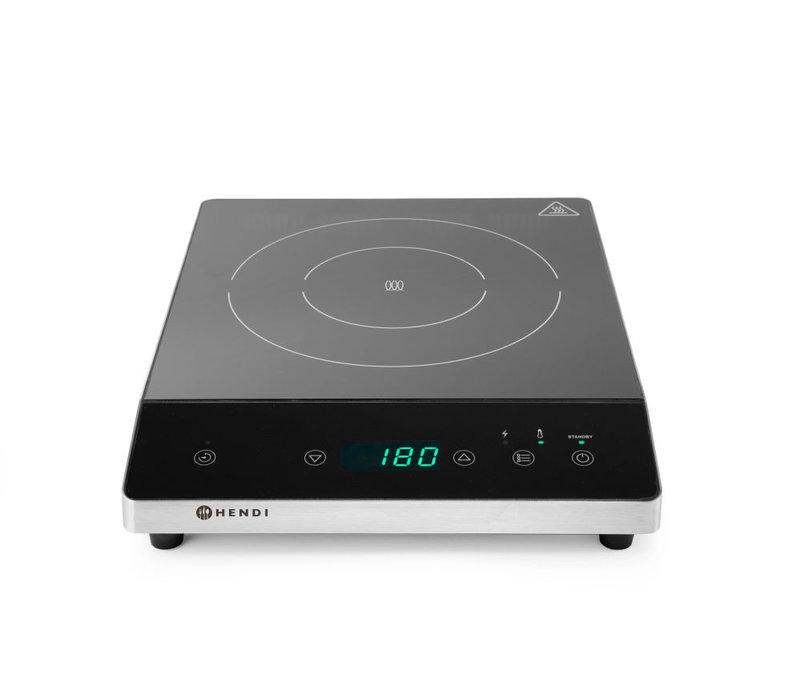 Hendi Inductiekookplaat 2000W | Voor Ø120-Ø260mm | 294x374x(H)56mm