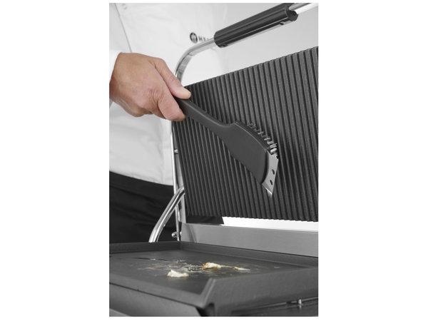 Hendi Staalborstel | RVS Draadharen | Met Stalen Schraper | 70x310x(H)85mm