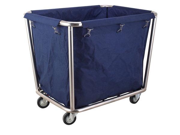 Hendi Wasgoed Trolley | Afneembare en Wasbare Waszak | 900x650x(H) 850mm