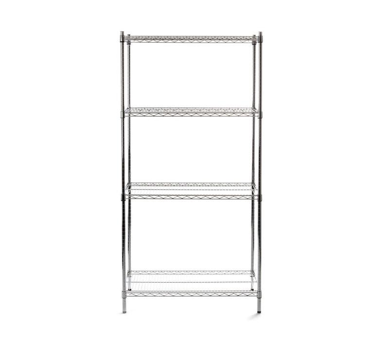 Hendi Storage Rack Extra Sturdy 4 Adjustable Shelves 125 kg per shelf 910x455x (H) 1830mm