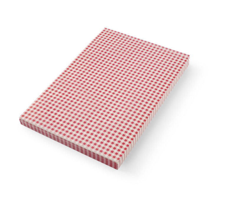 Hendi Greaseproof Paper Placemat | Check Pattern Per 500 sheets 420x275mm