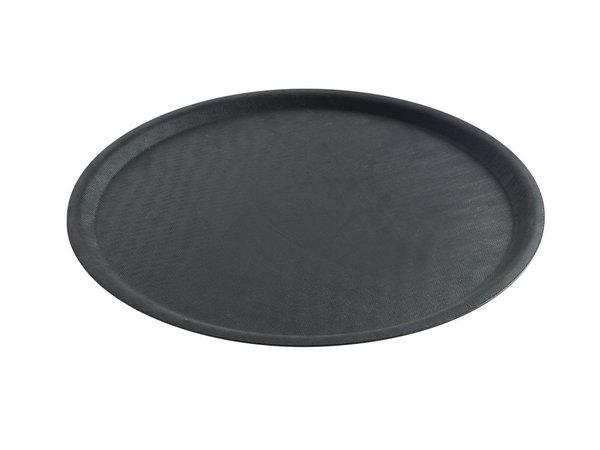 Hendi Tray Round Black | Non-slip layer Shock - Break resistant Ø500mm