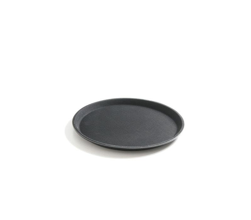 Hendi Dienblad Rond Zwart | Antislip Laag | Schok - Breukbestendig | Ø500mm