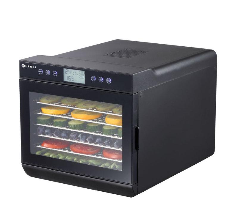Hendi Voedseldroger Kitchen Line | Zwart Model | 7 x 375x300mm | 345x450x(H)315mm