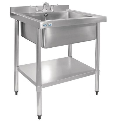 Vogue Stainless Steel Sink | Hygienic | Upstand | 900 (H) X750 (b) x600 (d) mm