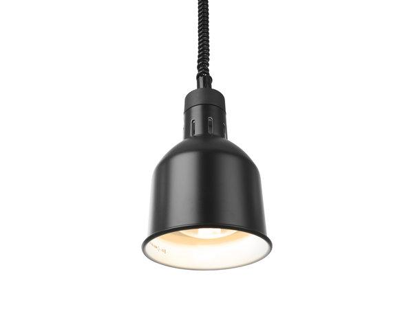 Hendi Warmtelamp Verstelbaar Cilindrisch | Zwart Model | 250 W  | 175x(H)250mm