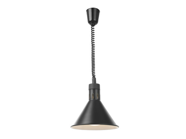 Hendi Heat lamp Adjustable Conical | Black Model 250W | 275x (H) 250mm