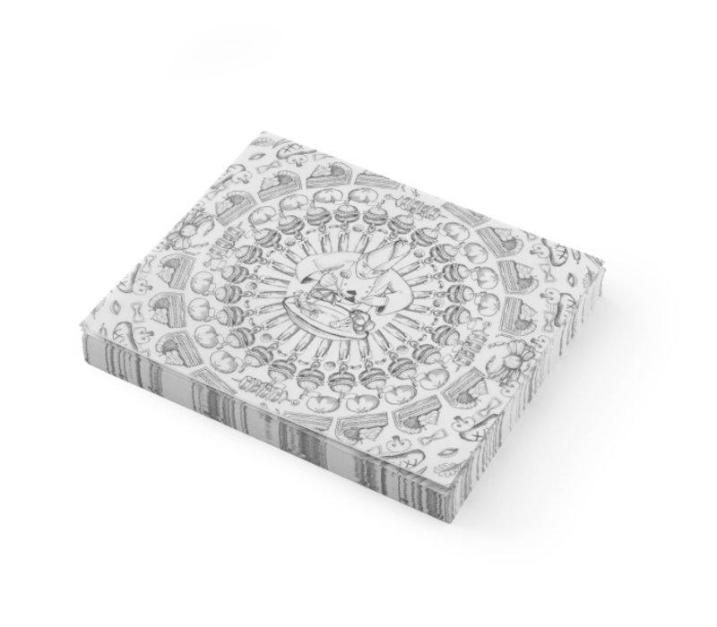 Hendi Vetbestendig Papier | Kok Voedsel Patroon | Per 500 Vellen | 250x200mm