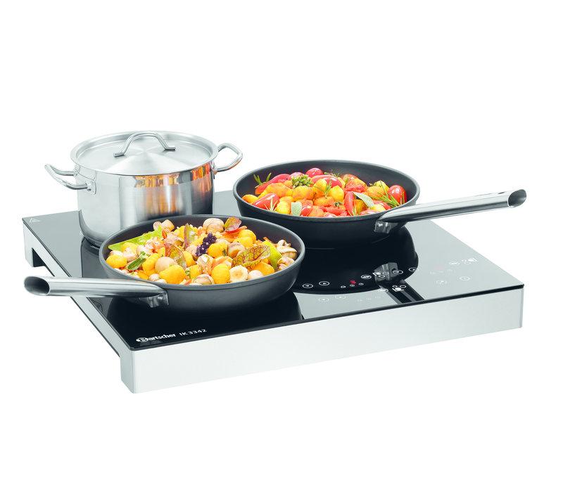 Bartscher Inductie Kookplaat IK 3342 | 3 Kookvlakken apart Instelbaar | 510x485x(H)65mm