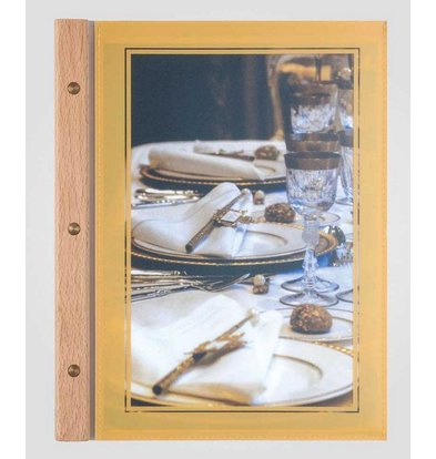 XXLselect Menukaart Omniframe Wood - A4 en A4S