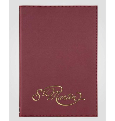 XXLselect Menu Classic Elegance - Imitation Leather - Bordeaux A4