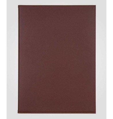 XXLselect Simi-leather menu folder - High-quality leatherette - Bordeaux A4 - 3 Read Pages