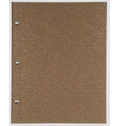 XXLselect Menukaart Library Fibre - Gold A5
