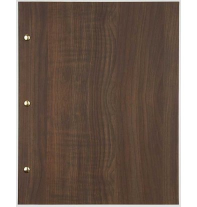 XXLselect Menu Library Wood - Dark Oak A4