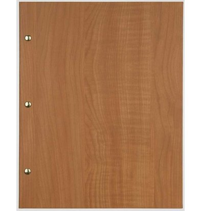 XXLselect Menu Library Wood - Beech Oak - Square Model