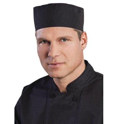 Chef Works Chefworks krijtstreep Cool Vent Beanie - Zwart - Universele maat - Unisex